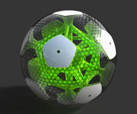 See-Through Soccer Balls - AGENT Suggests a Transparent Alternative with the CITRUS Soccer Ball