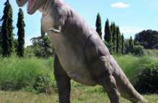 Prehistoric Lawn Ornaments - Giant T-Rex Turns Your Yard into Jurassic Park