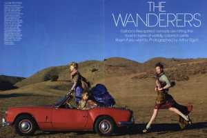 American Vogue March 2010 Shows 'The Wanderers'