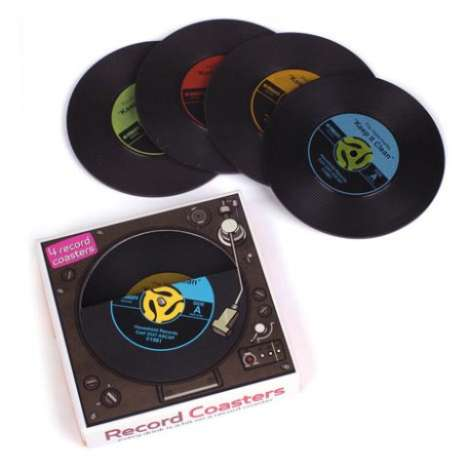 Vinyl Drink Holders - Keep the Table Safe Circa 1969 With These Record Coasters
