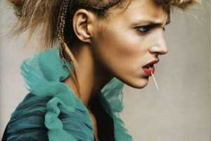 Anja Rubik Ties Up Her Tresses For Vogue Paris Beauty March 2010