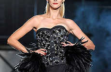Huge Feathered Hips - The Dsquared2 Fall Collection Emphasizes a Womanly Shape