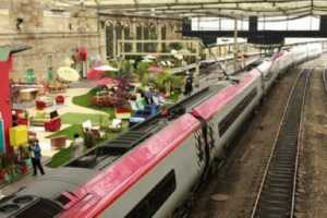 Carlisle Rail Platform Turned into Lounge and Garden for Homebase