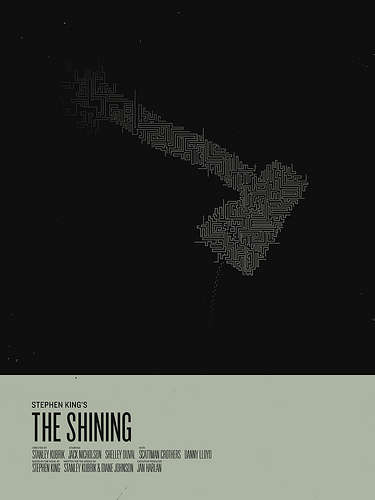 simplified stephen king classic film posters