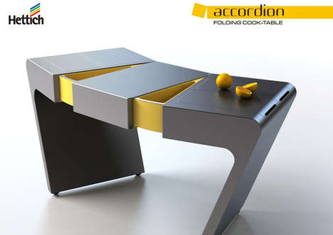 Accordian Folding Cook Table