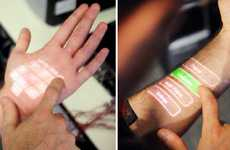 The Microsoft Skinput Projects Touchscreen on Your Skin