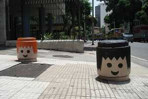 Heads of Playmobil Toys are Scattered Around Rio