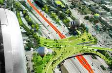 Greenified Freeway Cities - Odile Decq and Bonit Conrnette Architects LA Transport Solutions