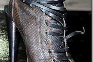 Hot Above-the-Ankle Heels for Roberto Cavalli AW 2010