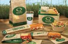 Greener Fast Food Packaging - Quiznos Bellies Up to Eco-Friendly Takeout Containers