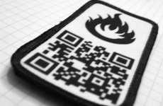 Wearable URLs  - P8tch Velcro-Backed Scannable QR Code Patch Routes to Websites