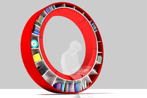 From Convertible Bookcases to Circular Bookshelves
