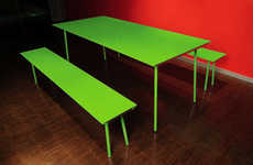 Neon Picnic Tables