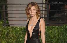 Hilary Swank's Red Carpet Gown is Sizzling