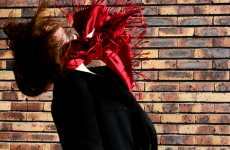 The Girl With Red Scarf Collection Conveys a Double Image
