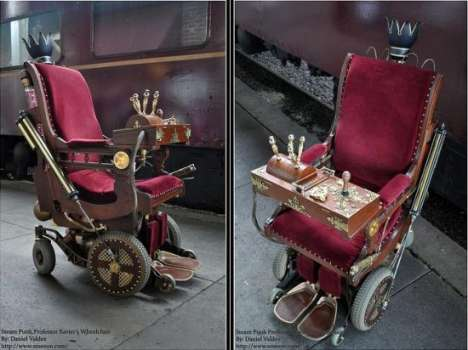 Steampunk Professor X chair