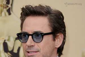 For the Academy Awards Robert Downey Jr. Gets Tied Up with Blue