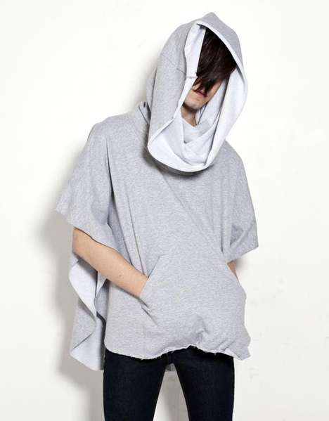 Oak Heather Grey Poncho