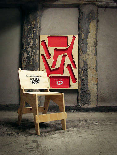 Instant Poster Seating - The Kit Kat Chaoster is a Super Convenient Advertisment