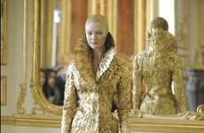 Futuristic Victorian Fashions - The Alexander McQueen AW10 Collection is Beautifully Bittersweet