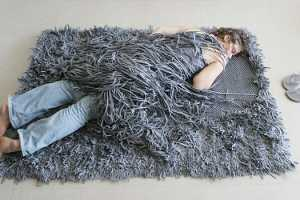 The Comb Over Carpet Mimics a Bad Hairdo