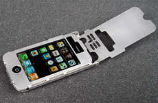 Bulletproof MP3 Holders - The Sheet Metal iPhone Case Reinforces Your Music