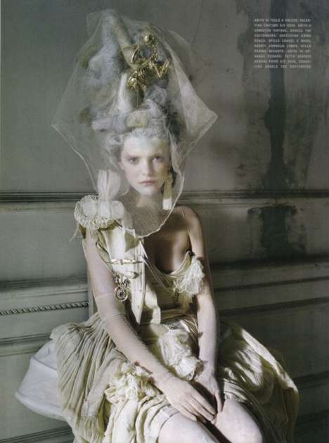 lady grey in vogue italia