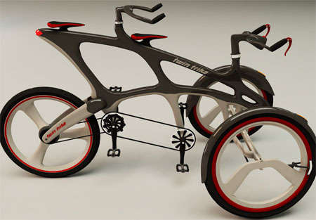 Tandem Tricycles - The Twin Trike is Designed for Couples Riding