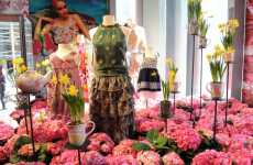 Bouquet Fashion Displays - Flowers Abound at the Liberty of London for Target NYC Pop-Up Shop