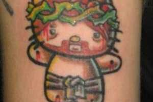 These Hello Kitty Tattoos are More Like Hell Kitty Tattoos