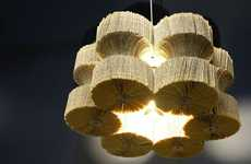 Novel Sculptured Chandeliers - Light Reading by Lula Dot is Made of Books