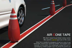 The Air Cone Tape Eliminates Pylon-Related Accidents