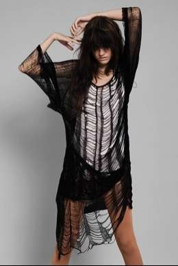 Cobweb Caftans - Thomas Clothing Rocks Deconstructed Style With Shreds and Rips to Spare