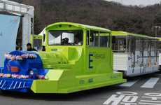 Proximity-Charged Trams - Underground Power Source Eliminates Need for Overhead Cables