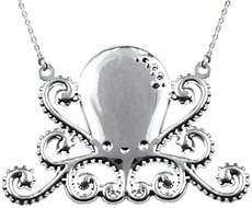 Silver Octopus Necklace