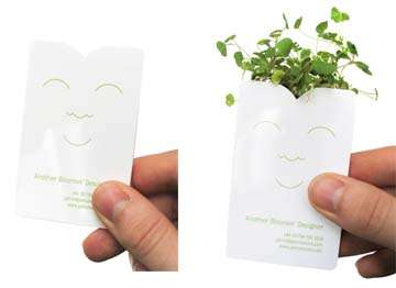 Miniature House-Plant Business Card