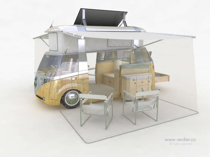 Travel Eco-Friendly in The Westfalia Verdier Solar Power Caravan