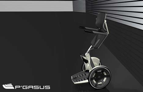 Pegasus Wheelchair - Segway-Like Upright Movements by Porsche Design