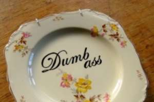 Classic Dinnerware Hand Painted with Profanity