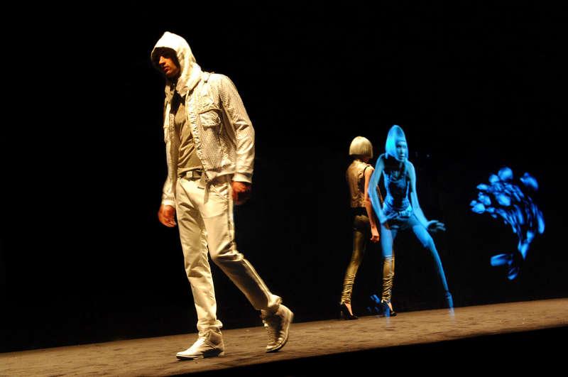 Runway Holograms -The Deisel Fashion Show Brings Grungewear to Otherworldy Dimensions