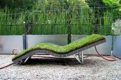 Grass Chairs - Sun Lounger Makes Eco-Friendly Nature-Inspired Lawnchairs