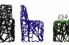 Chair Made from Plastic Scraps