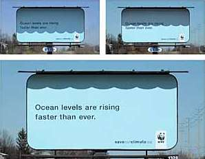 WWF's Solar Powered Billboard Warns About Global Warming