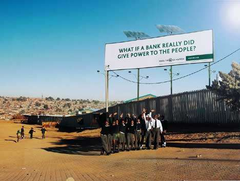 Solar Empowering Billboards - NEDBank Billboard Lights Up School Kitchen