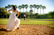 Bridal Baseball Uniforms - Ricardo Varela Shoot Brings Wedding Dress Trashing to the Ball Field