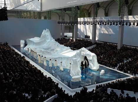 Glacial Catwalks - The Chanel AW10 Fashion Show Prepares for Another Ice Age