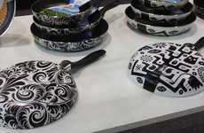 Frying Pan Artistry - Giaretti Cookware Adds Color and Style to Wall Art