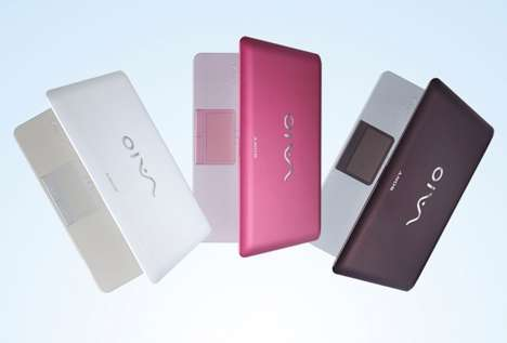 Computers Made From CDs - Sony Vaio W Series Recycles Lost & Forgotten Albums Into Portable PCs