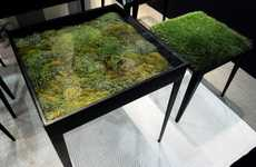 Moss-Covered Furniture - The Secret Garden Table by Ayodhya Brings the Outdoors to Your Living Room