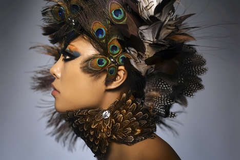 Feathered Makeup - Mark Lim Makes Bird-Brained Beauty Feasible for Fashionistas